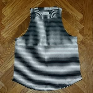 Madewell Black/White stripe tank top